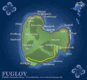 Fugloy - Image: Fugloy Map