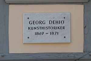 Georg Dehio - Image: Göttinger Gedenktafel Georg Dehio