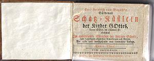 Karl Heinrich von Bogatzky - Güldenes Schatz-Kästlein der Kinder Gottes, 28th edition 1772