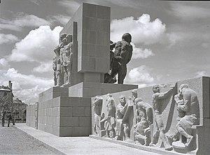 Güvenpark - Güven Monument in the park.