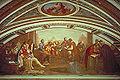 Galileo dimostra la legge della caduta dei gravi a Don Giovanni de' Medici, affresco di Giuseppe Bezzuoli, Tribuna di Galileo, Firenze.jpg