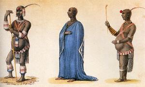 Dingane kaSenzangakhona - Dingane in ordinary and dancing dresses