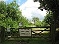Gate and sign at access to Moor Farm Lake - geograph.org.uk - 890825.jpg