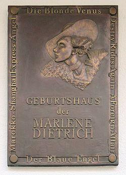 Photo of Marlene Dietrich plaque