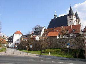 Geithain - Image: Geithain Nikolaikirche Stadttor