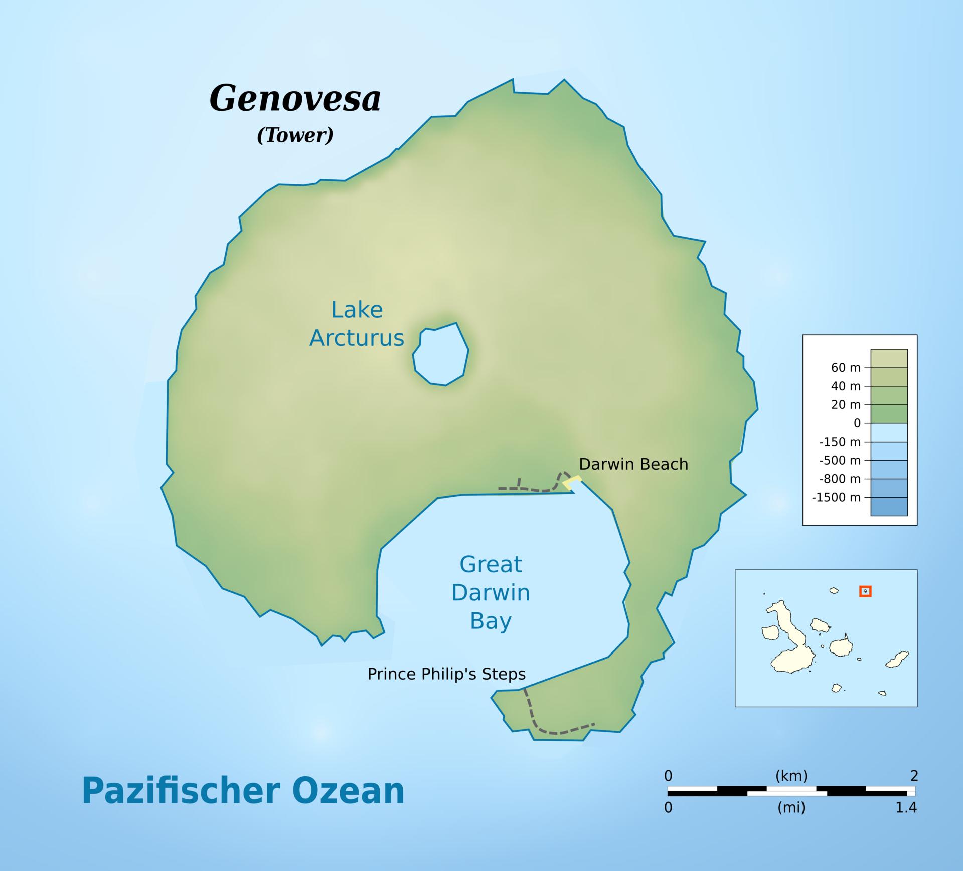 Canton Island Map