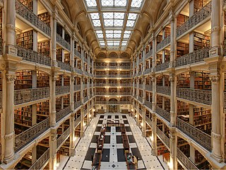 George Peabody Library research library in Baltimore, Maryland