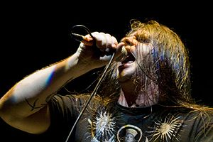"Death growl - George ""Corpsegrinder"" Fisher, lead vocalist of Cannibal Corpse"