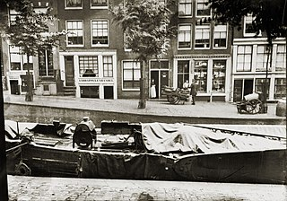 Lauriergracht Canal in Amsterdam