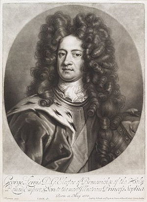 George I of Great Britain - George in 1706, when he was Elector of Hanover. After Johann Leonhard Hirschmann.