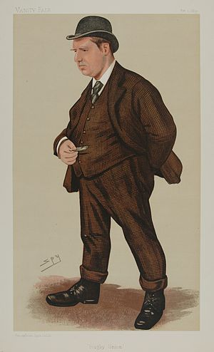 George Rowland Hill - Caricature of George Rowland Hill, Vanity Fair (1890)