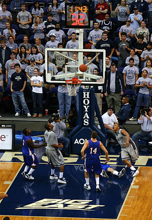 Georgetown Hoyas - The men's basketball teams plays their home games at the Verizon Center in downtown Washington, D.C.