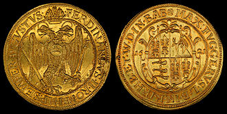Fugger - 10 Ducats (1621) minted as circulating currency by the Fugger Family