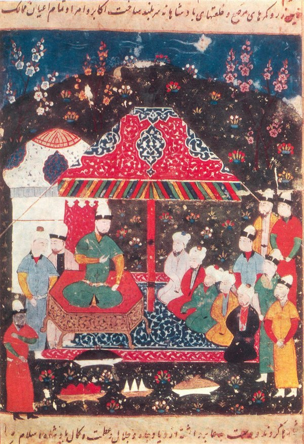 An artist illustrated of Ghazan Khan, a historical figure harshly rebuked by Ibn Taymiyyah, mainly due to his constant state of hostility towards the Mamluks of Egypt.