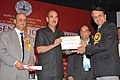 Ghulam Nabi Azad presented the ICMR awards to distinguished scientists, at a function, in New Delhi on September 24, 2013. The Minister of State for Health & Family Welfare, Shri A.H. Khan Choudhury is also seen.jpg