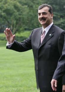 Youssouf Raza Gilani à Washington en 2008.