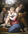 Giorgio vasari, sacra famiglia con san francesco in un paesaggio, 1542.JPG