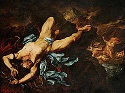 Giovanni Battista Langetti - The Torture of Ixion (17th-century).jpg