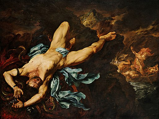 Giovanni Battista Langetti - The Torture of Ixion (17th-century)