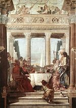 Giovanni Battista Tiepolo - The Banquet of Cleopatra - WGA22307.jpg