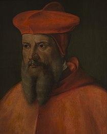 Giovanni Capassini - Le cardinal François de Tournon, archevêque de Lyon (huile sur bois).jpg