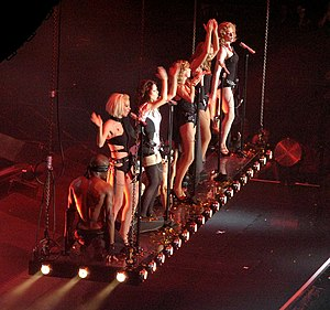 "Call the Shots - Girls Aloud performing ""Call the Shots"" on the Out of Control Tour (2009)."