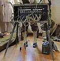 Giverville, France. WW2 items and militaria from a commemorative exhibition on the liberation 1944. US field telephone switchboard. 2015.jpg
