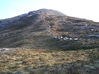 Ben Hee - Image: Glacial morraine ridge on the N flank of Ben Hee. geograph.org.uk 1680093