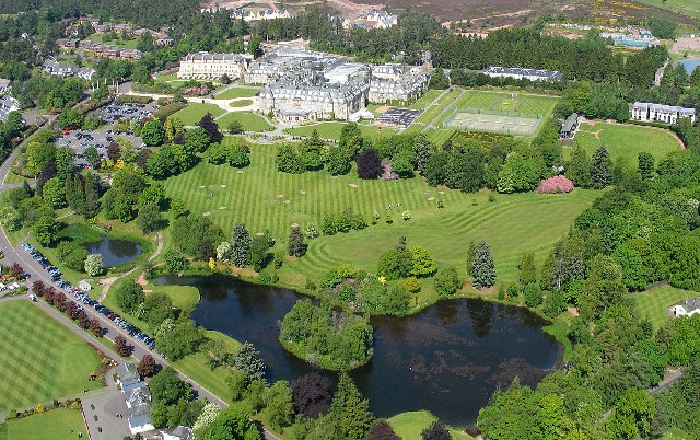 Gleneagles Hotel and grounds