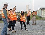 Gloria Steele visits the dioxin remediation site in Danang Airport (30445682791).jpg