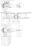 Gloster Gamecock II 3-view L'Air August 15,1927.png