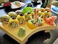 Golden Maki Rainbow Roll sushi.jpg