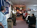 Gov. Strickland visits Phone Bank.jpg