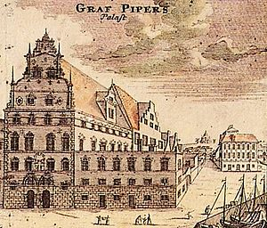 Carl Pipers palats, ccirka 1700