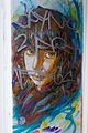 Graffiti in Shoreditch, London - Female Portrait 3 by C215 (9447089216).jpg