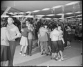 Granada Relocation Center, Amache, Colorado. A regular Saturday evening dance at Terry Hall, a mess . . . - NARA - 539062.tif