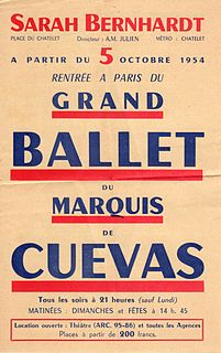 George de Cuevas Chilean ballet choreographer