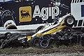 Grand Prix op Zandvoort wagen Arnoux in de vangrail, Bestanddeelnr 253-8756.jpg
