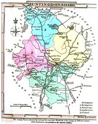 Map of Huntingdonshire, 1824