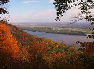 Great River Bluffs State Park - The Mississippi River from Great River Bluffs State Park