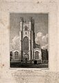Great St. Mary's Church, Cambridge. Line engraving by J. Le Wellcome V0012337EL.jpg