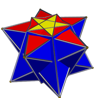 Duoprism - Great duoantiprism, stereographic projection, centred on one pentagrammic crossed-antiprism