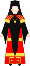 Greek Orthodox Bishop - choir dress.svg