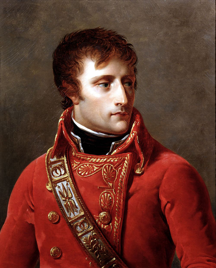 Bonaparte as the new First Consul, by Antoine-Jean Gros, c. 1802, Musee de la Legion d'honneur, Paris Gros - First Consul Bonaparte (Detail).png