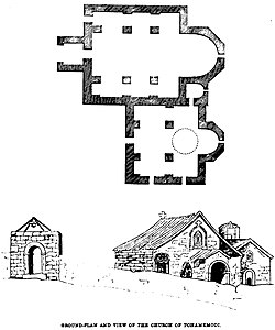 Ground-Plan and view of The Church of Tohamkmodi. John M. Neale. A history of the Holy Eastern Church. P.263.jpg