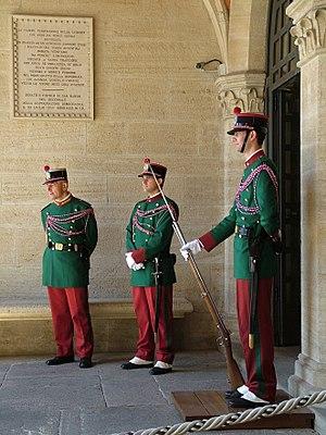 Guardia di Rocca al Palazzo Pubblico San Marino