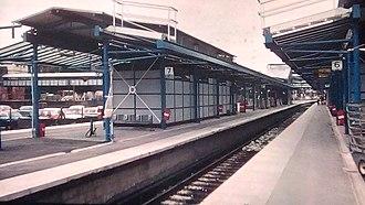 Guildford railway station - Guildford railway station in 1989.
