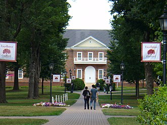 Guilford College - Brick walkway through Guilford College