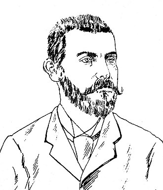 Guillermo Tell Villegas Pulido - Extract of a caricature of Villegas Pulido, which appeared in the humorist magazine El Diablo in 1892, the year he held the presidency.