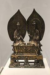 Shâkyamuni (le Buddha historique) et le Buddha Prabhûtaratna.